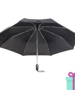 André Philippe paraplu opvouwbaar pongee zwart bedrukken