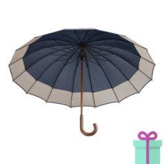André Philippe paraplu pongee blauw bedrukken