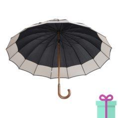 André Philippe paraplu pongee zwart bedrukken
