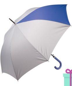 Automatische luxe paraplu pongee blauw bedrukken