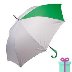 Automatische luxe paraplu pongee groen bedrukken