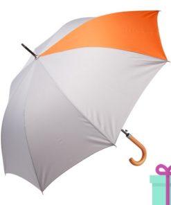 Automatische luxe paraplu pongee oranje bedrukken