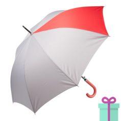 Automatische luxe paraplu pongee rood bedrukken