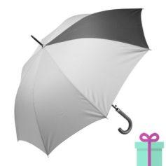 Automatische luxe paraplu pongee zwart bedrukken