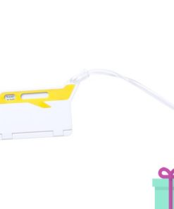 Bagagelabel papierinzet geel bedrukken