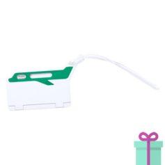 Bagagelabel papierinzet groen bedrukken