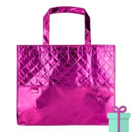 Boodschappentas metallic roze bedrukken