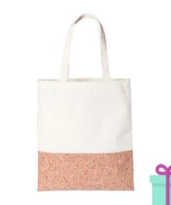 Canvas kurk shopper bedrukken