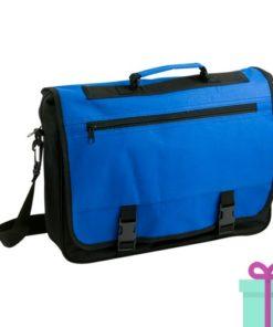 Documenten tas goedkoop blauw bedrukken