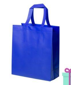 Extra gelamineerde shopper blauw bedrukken