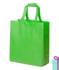 Extra gelamineerde shopper groen bedrukken