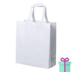 Extra gelamineerde shopper wit bedrukken