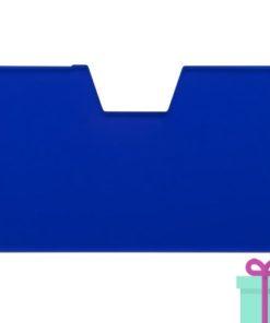 Full color kaarthouder creditcardformaat blauw bedrukken