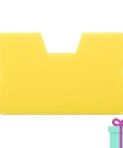 Full color kaarthouder creditcardformaat geel bedrukken