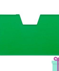 Full color kaarthouder creditcardformaat groen bedrukken