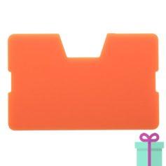 Full color kaarthouder creditcardformaat oranje bedrukken