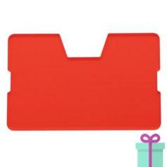 Full color kaarthouder creditcardformaat rood bedrukken