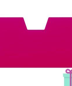 Full color kaarthouder creditcardformaat roze bedrukken