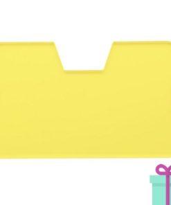 Full color kaarthouder creditcardformaat transparant geel bedrukken