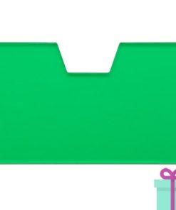 Full color kaarthouder creditcardformaat transparant groen bedrukken