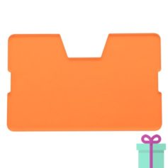 Full color kaarthouder creditcardformaat transparant oranje bedrukken
