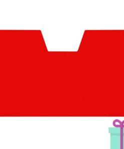 Full color kaarthouder creditcardformaat transparant rood bedrukken