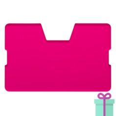 Full color kaarthouder creditcardformaat transparant roze bedrukken
