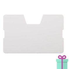 Full color kaarthouder creditcardformaat transparant wit bedrukken