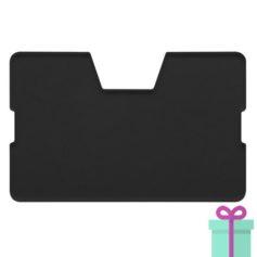 Full color kaarthouder creditcardformaat transparant zwart bedrukken