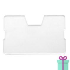 Full color kaarthouder creditcardformaat wit bedrukken
