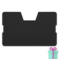Full color kaarthouder creditcardformaat zwart bedrukken