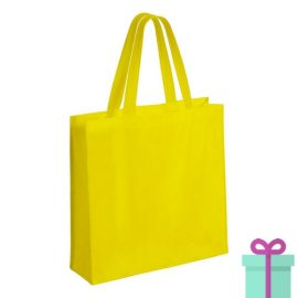 Gelamineerde non-woven shopper 110gram bedrukken geel