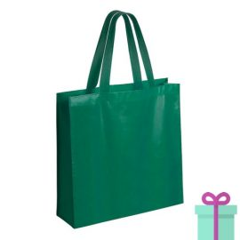 Gelamineerde non-woven shopper 110gram bedrukken groen