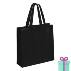 Gelamineerde non-woven shopper 110gram bedrukken zwart