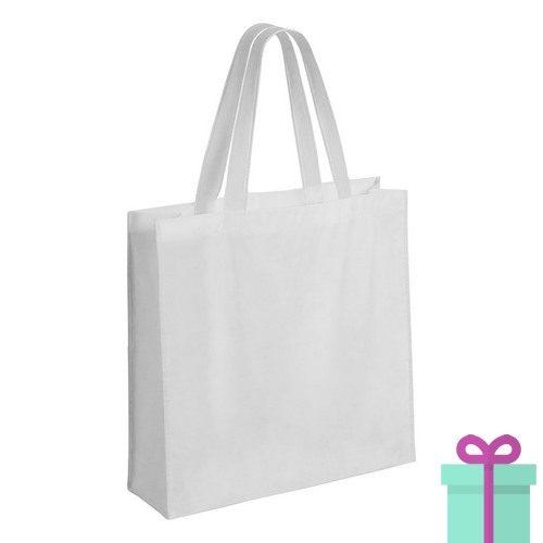 Gelamineerde non-woven shopper 110gram wit bedrukken