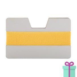 Kaarthouder creditcardformaat geel bedrukken