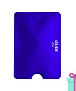 Kaarthouderbeschermer blauw bedrukken