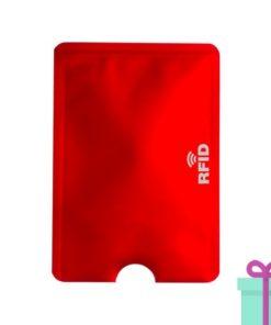 Kaarthouderbeschermer rood bedrukken