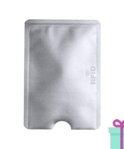 Kaarthouderbeschermer zilver bedrukken
