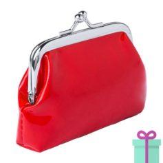 Kleine knip portemonnee rood bedrukken