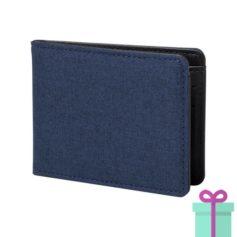 Kleine portemonnee blauw bedrukken