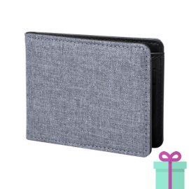 Kleine portemonnee grijs bedrukken