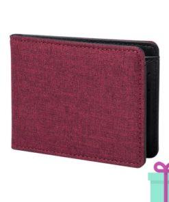 Kleine portemonnee rood bedrukken