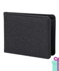 Kleine portemonnee zwart bedrukken