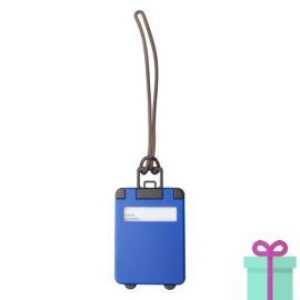 Kofferlabel papieren adresinzet blauw bedrukken