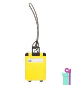 Kofferlabel papieren adresinzet geel bedrukken
