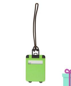 Kofferlabel papieren adresinzet groen bedrukken