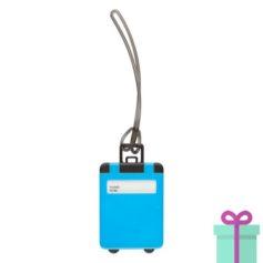 Kofferlabel papieren adresinzet lichtblauw bedrukken