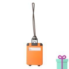 Kofferlabel papieren adresinzet oranje bedrukken
