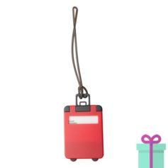 Kofferlabel papieren adresinzet rood bedrukken